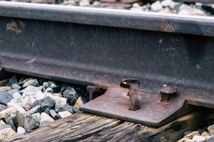 Railrad track close up