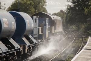 Railhead Treatment Train at work